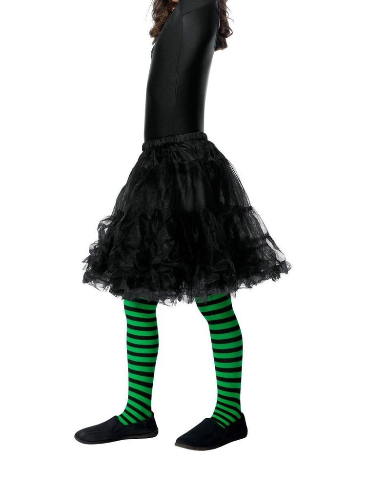 Wicked Witch Child Tights, Green-Black