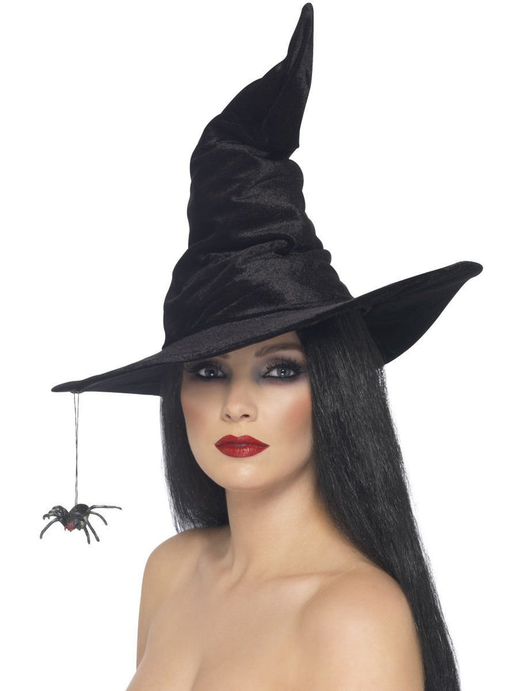 Witch Hat, Spider, Black Velour