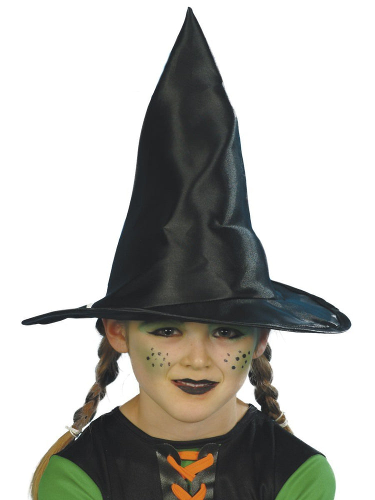 Witch Hat Childs Black Fabric