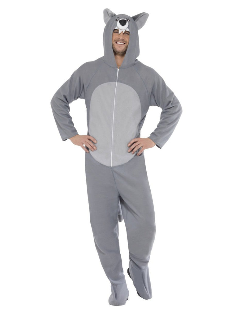 Smiffys Wolf Costume, with Hooded All in One - 27858
