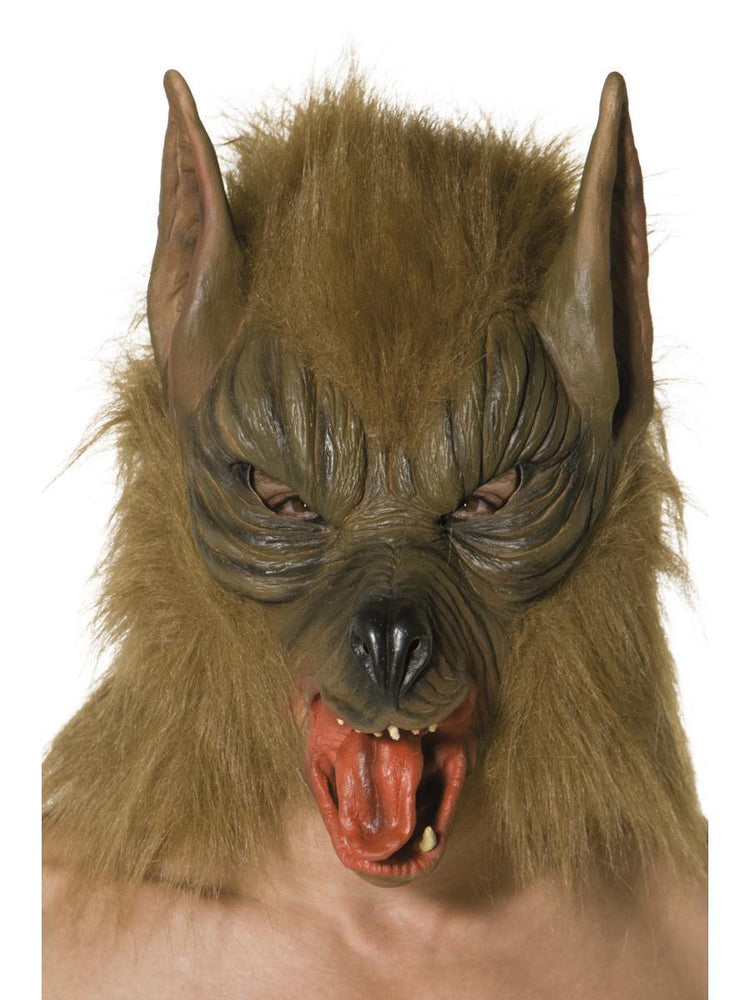 Wolf Mask Brown Overhead