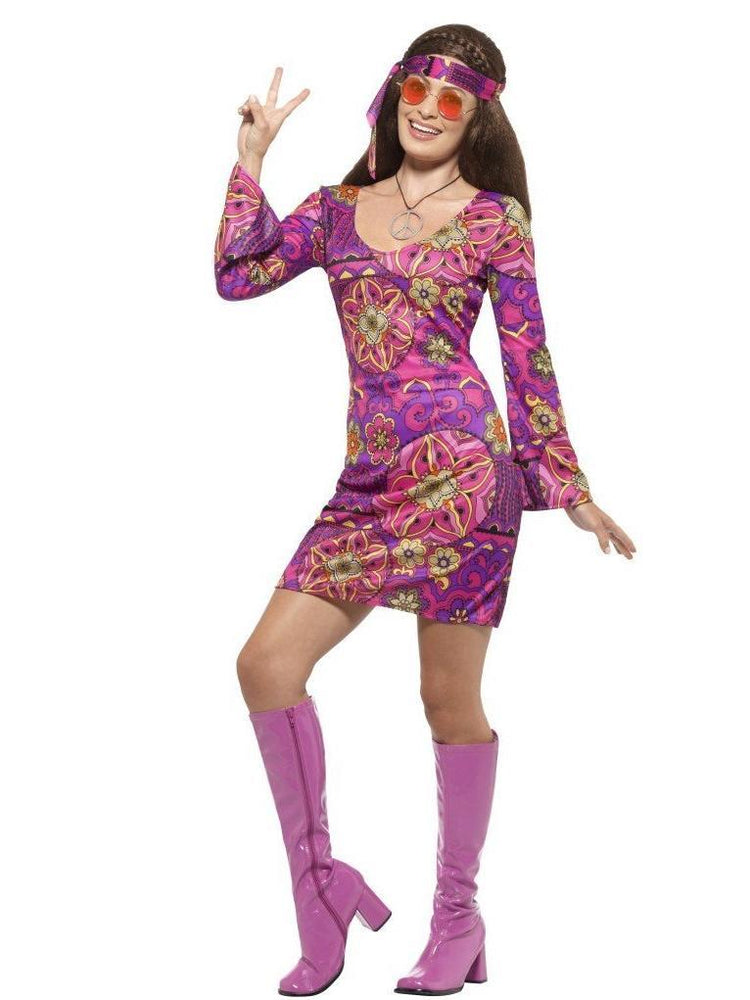 Smiffys Woodstock Hippie Chick Costume - 45519