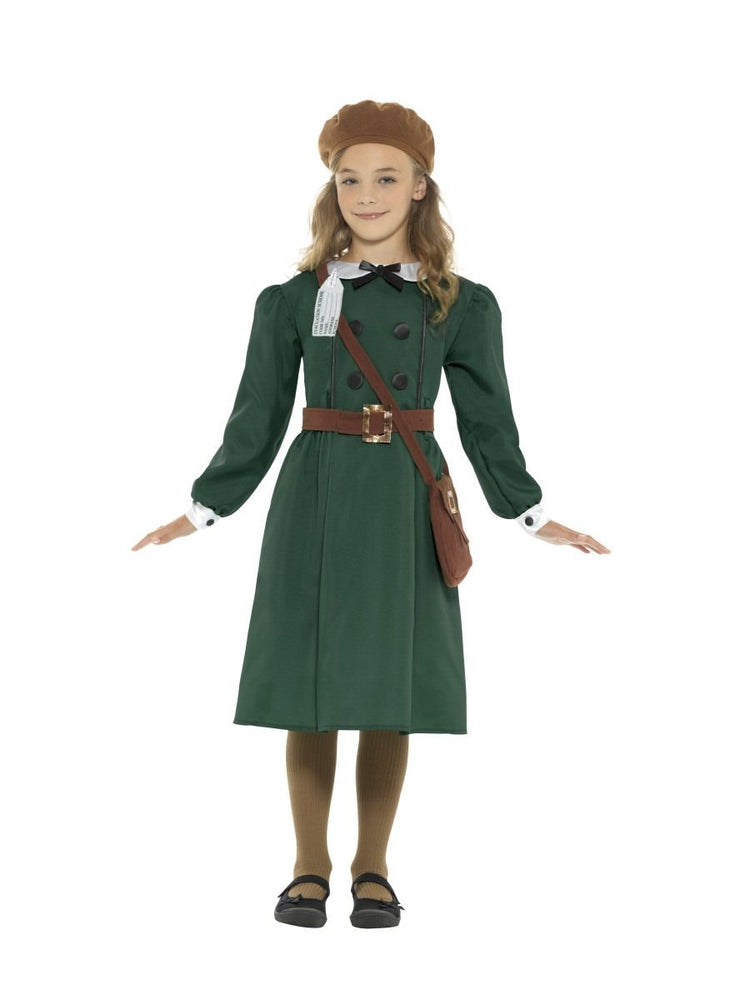 WW2 Girls Evacuee Costume, Child