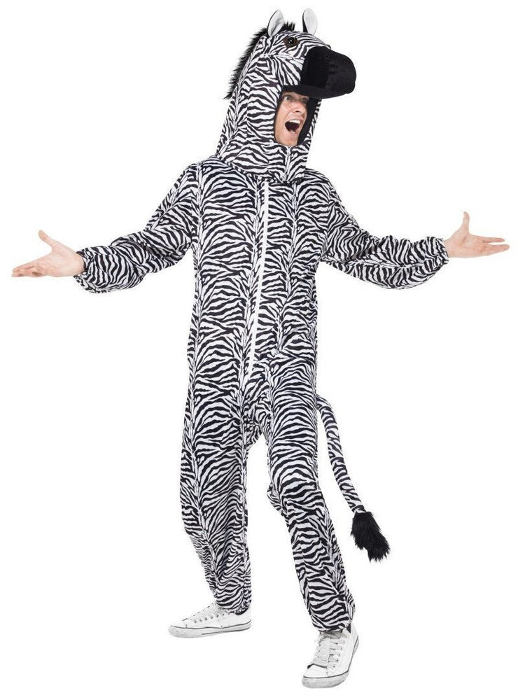 Smiffys Zebra Costume, with Bodysuit and Hood - 43816
