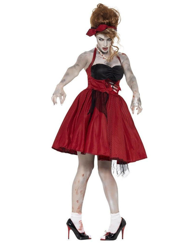 Smiffys Zombie 50s Rockabilly Adult Women's Costume - 44369