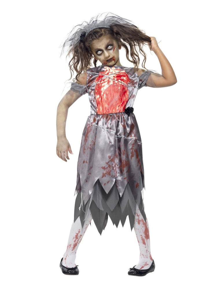 Zombie Bride Bloody Costume, Child