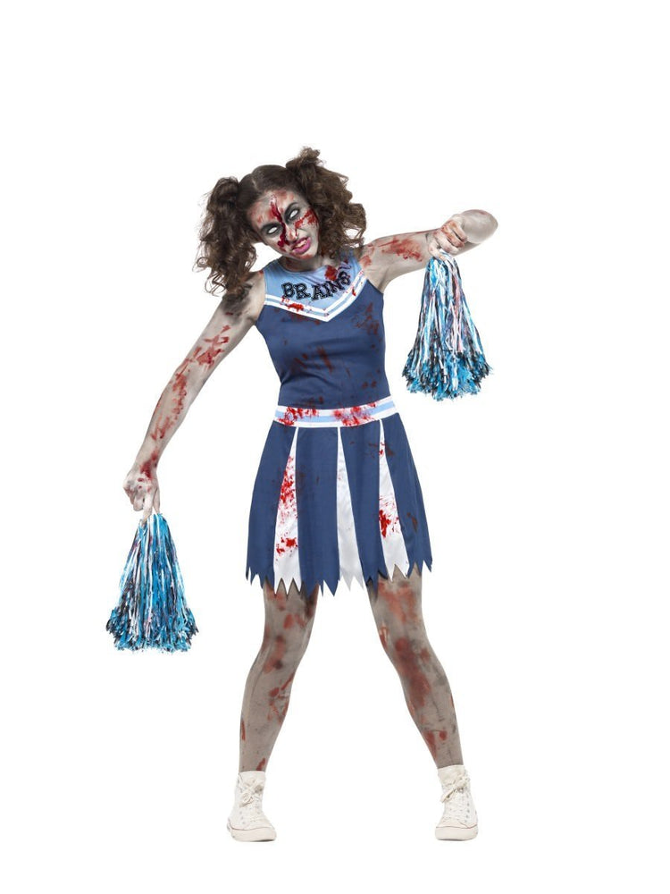 Smiffys Zombie Cheerleader Blue Teen Girl's Costume - 45614