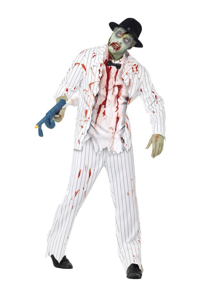 Smiffys Zombie Gangster White Suit Adult Men's Costume - 43042