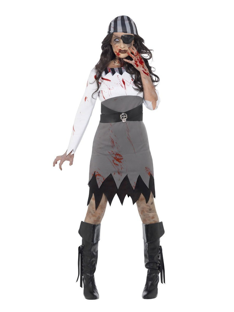 Zombie Pirate Lady Costume - XS