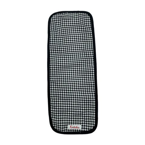 Black Checked Burp Cloth
