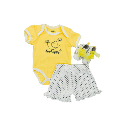 Baby Girl's Romper and Shoe Set