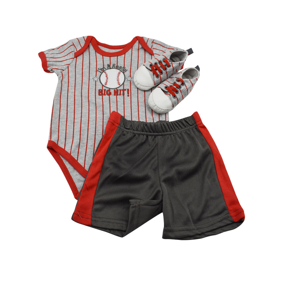 Boy's Romper and Shoe Set