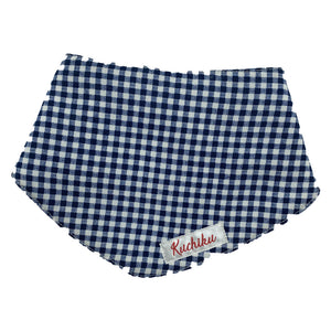 Navy Checked Baby Bandana Bib