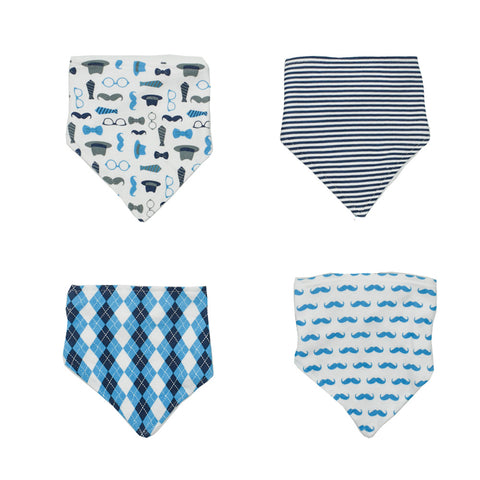 4 Pack Boy's Printed Bibs