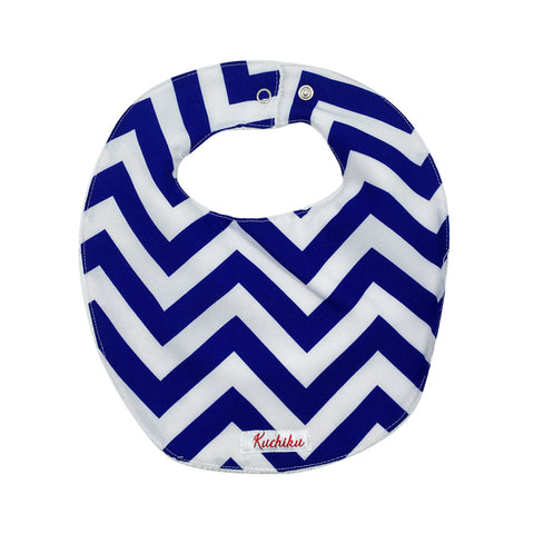Blue Chevron Baby Feeding Bib