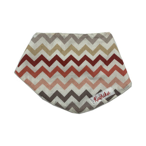 Orange Chevron Baby Bandana Bib