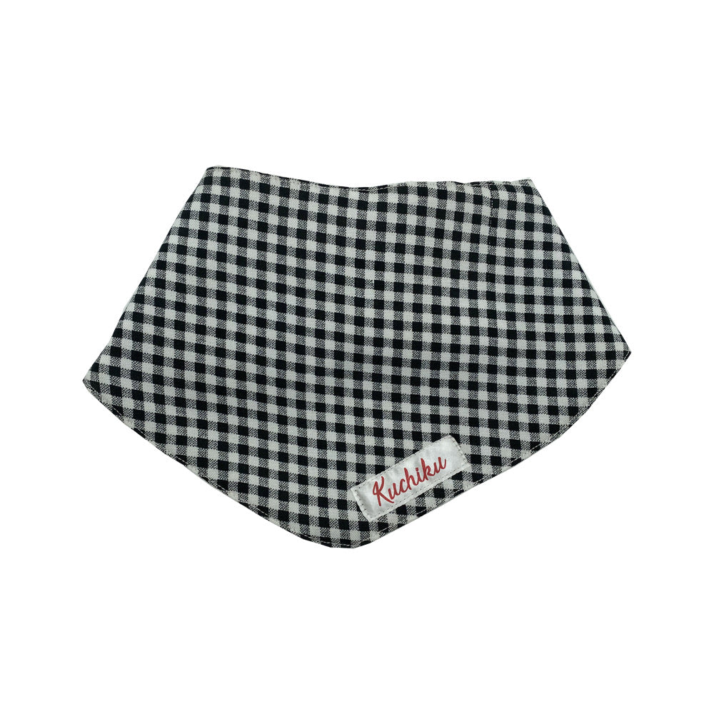 Black Checked Baby Bandana Bib