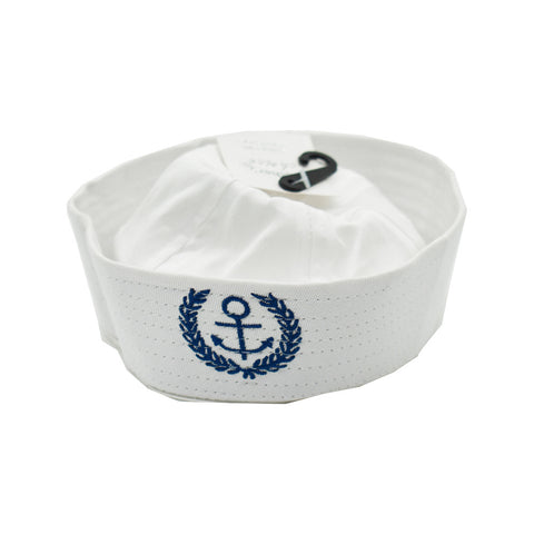 White Sailor Baby Hat