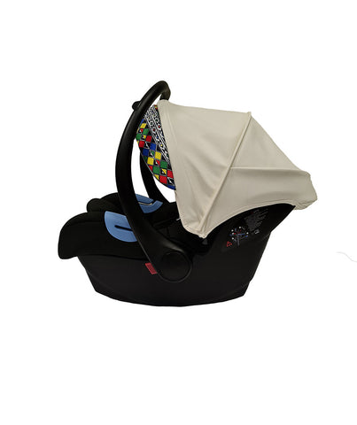 Artistic White Car Seat
