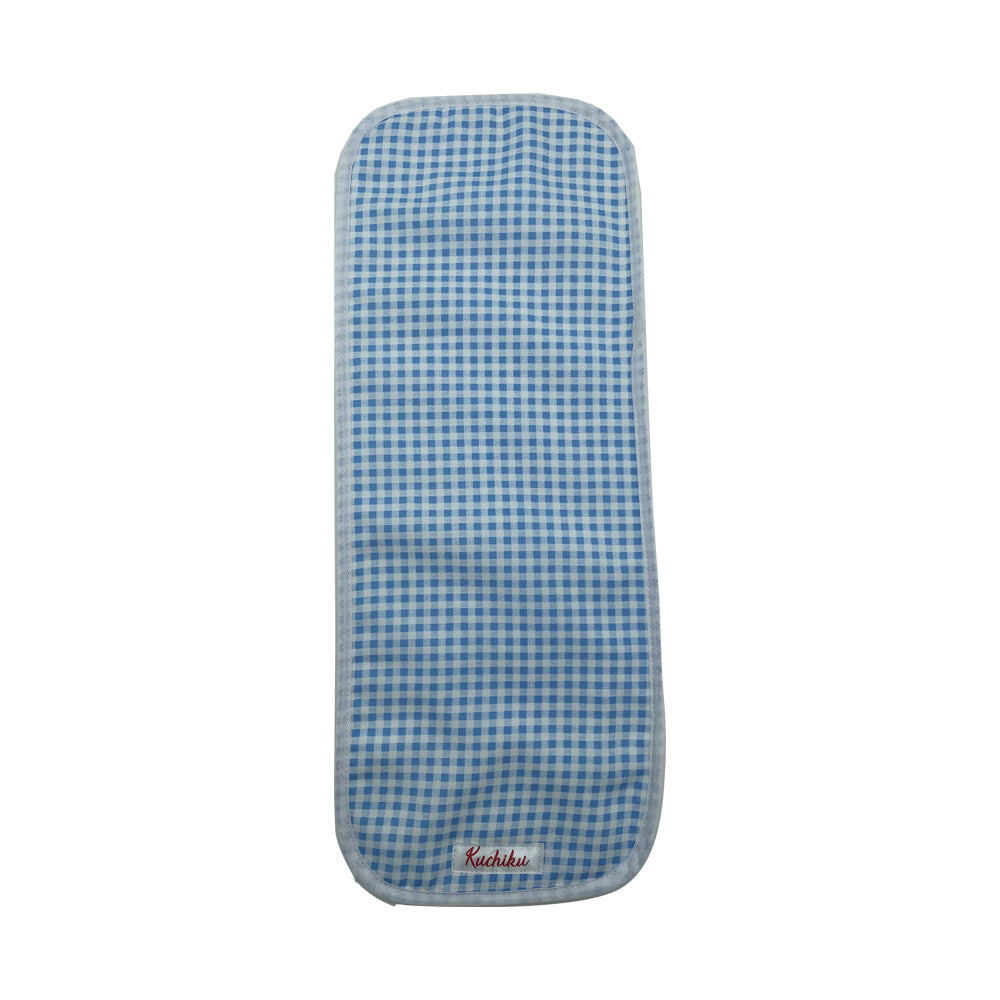 Blue Checked Baby Burp Cloth