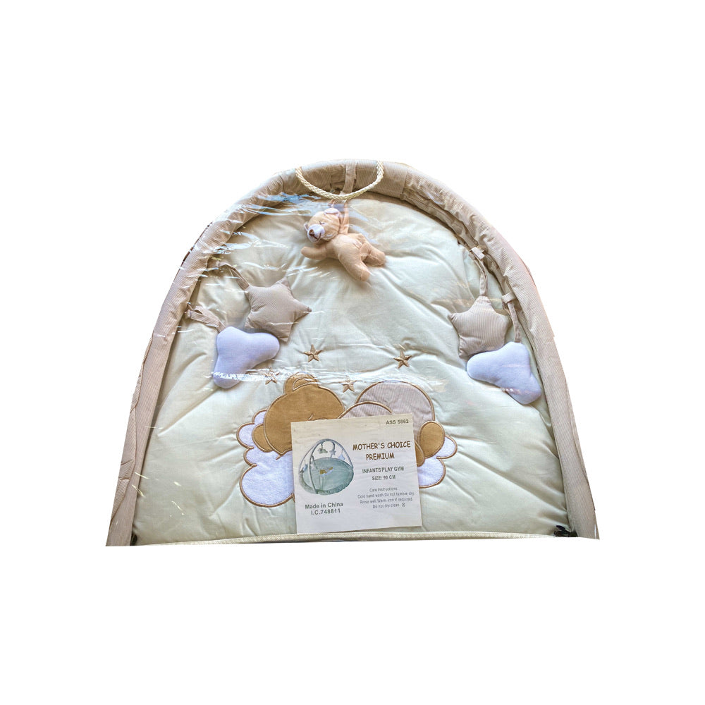 Beige Gingham Baby Playgym