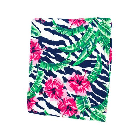 Pink Leaf Print Essential Cover