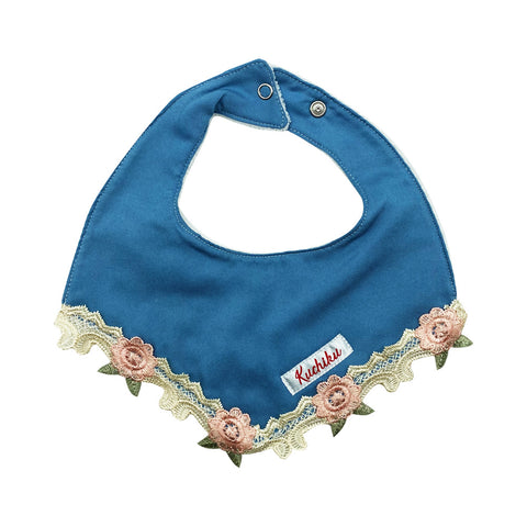 Floral Lace Baby Bib