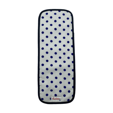 Navy and White Polka Dots Baby Burp Cloth