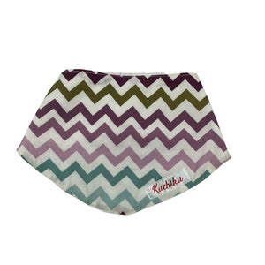 Purple Chevron Baby Bandana Bib