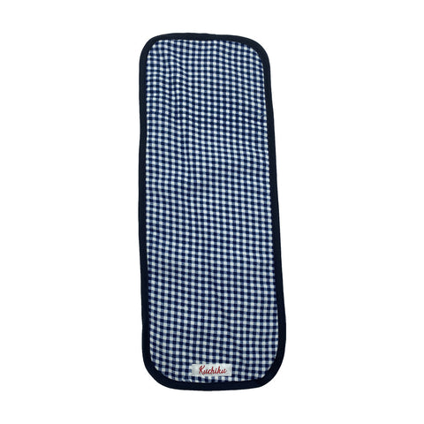 Navy Checked Baby Burp Cloth