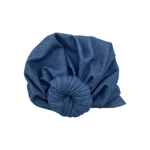 Denim Baby Turban