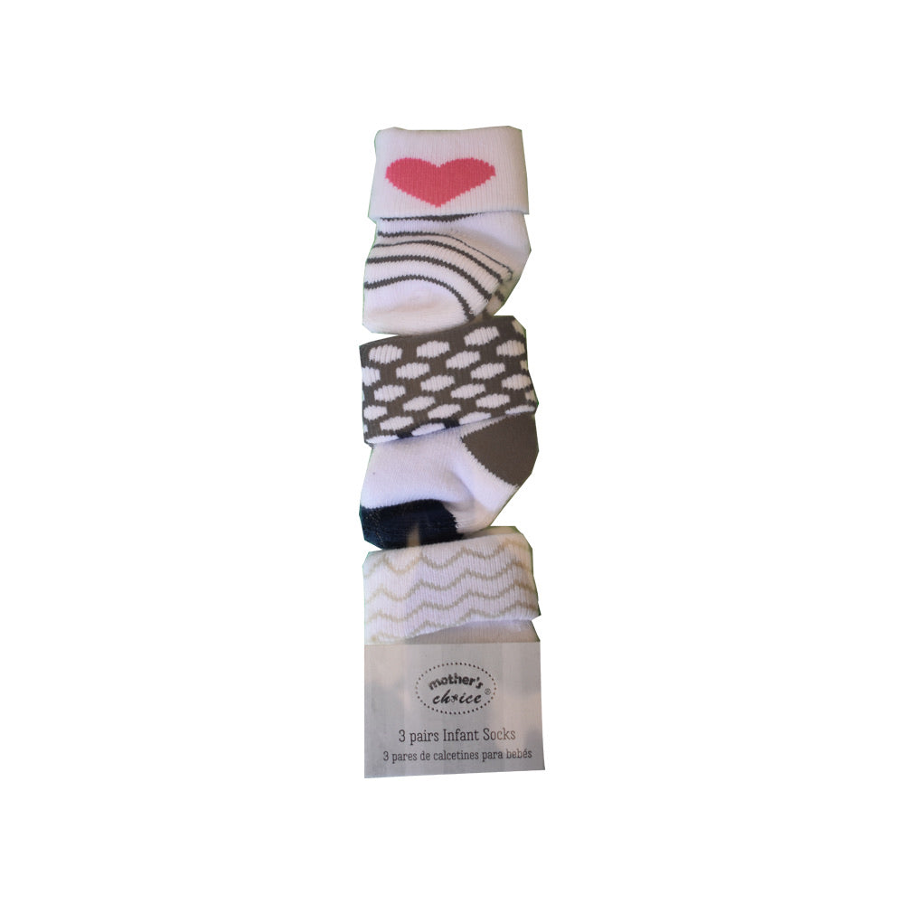 3 Pack Girl's Socks
