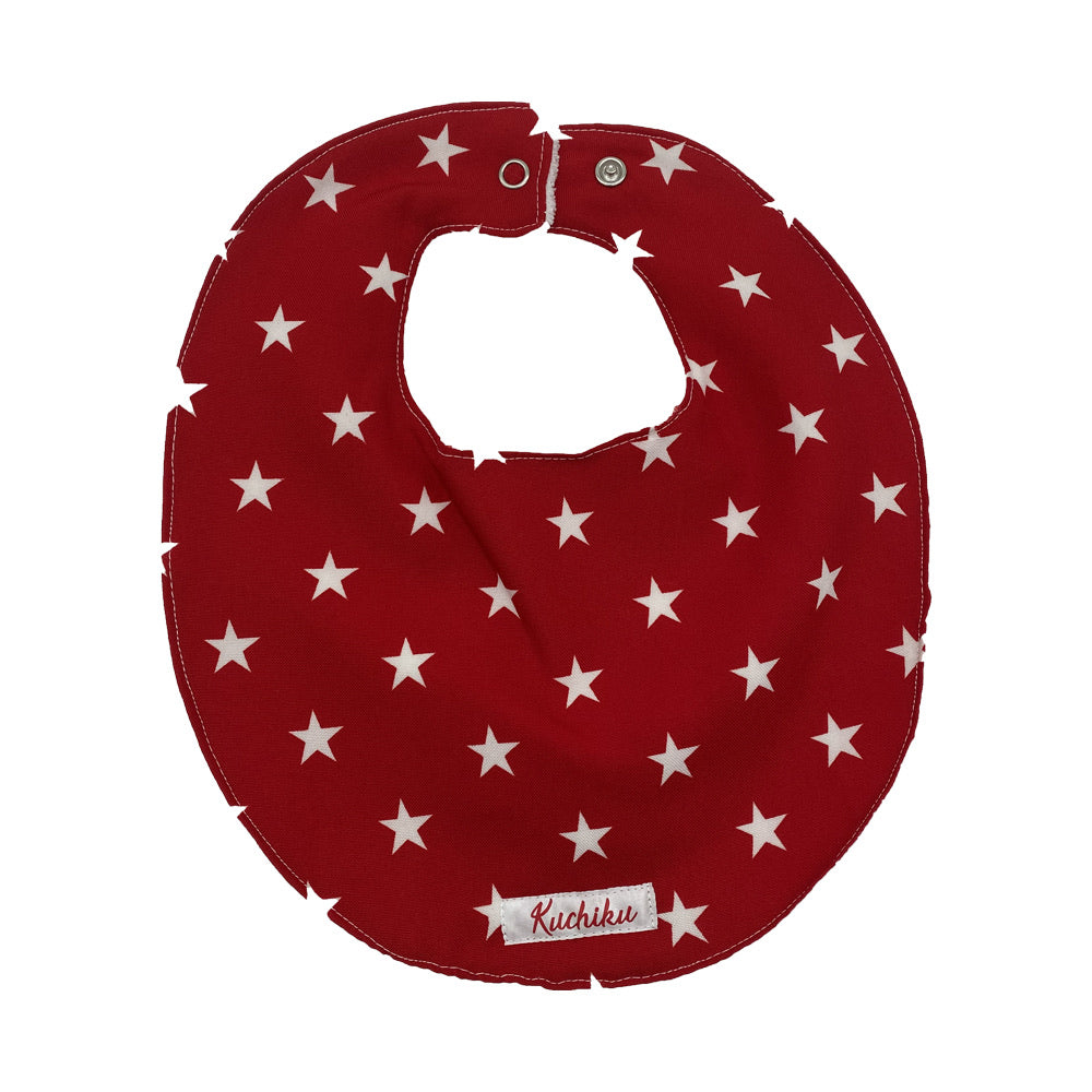 Red Stars Baby Feeding Bib