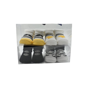 4 Pack Boy's Baby Socks- Gift Pack