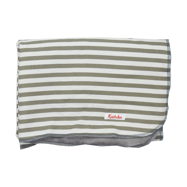 Grey Striped Baby Gift Set