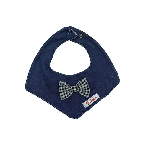 Black Bow Tie Exclusive Baby Bib