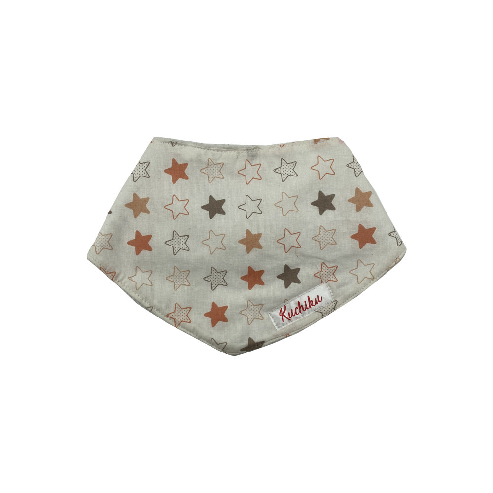 Orange Star Print Baby Bandana Bib