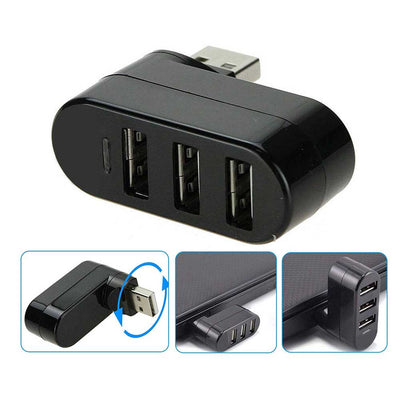 Mini Rotatable 3-Port USB Hub - The Magnetic Cable Store