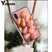 Tulip flower and Colorful Case for Apple iPhone 8 7 6 6S Plus X XS MAX 5 5S SE XR - The Magnetic Cable Store