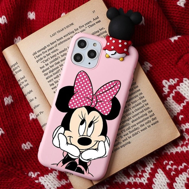 Cartoon Couple Fashion Case For iPhone XR 11 Pro XS Max X 5 5S Silicone Matte Cover For iphone 7 8 6 S 6S Plus 7Plus Case Girls - The Magnetic Cable Store