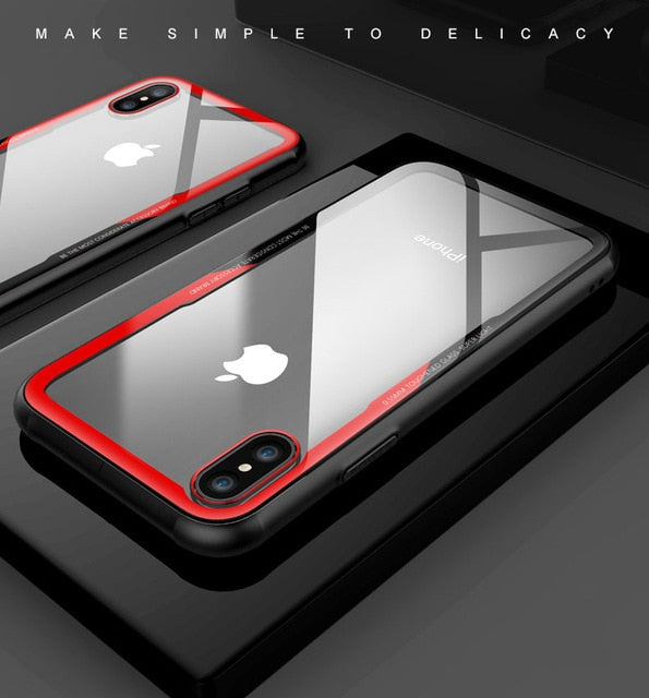 Tempered Glass Case For iPhone 7 8 6 6s Plus High Quality Clear Soft Silicone Glass Cover For iPhone 11 Pro X XR XS Max Cases - The Magnetic Cable Store