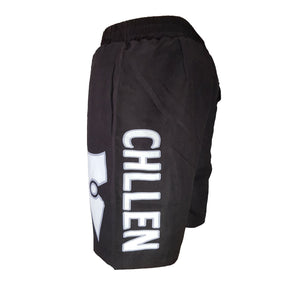 chillen chllen lifestyle wear black-white board shorts boardies