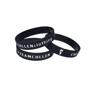 chillen chllen lifestyle wear black-white silicone wrist band marble