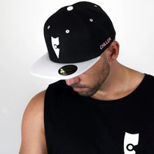 Load image into Gallery viewer, chillen chllen lifestyle wear black-white snapback hat 1st edition (2)