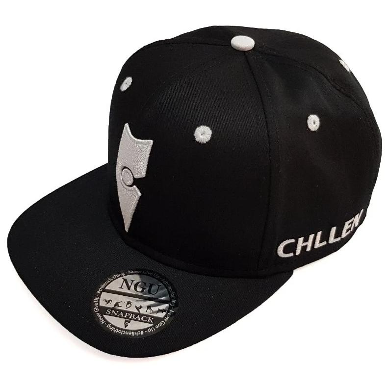 black white snapback hat cap chllen lifestyle wear chillen clothing chillin apparel