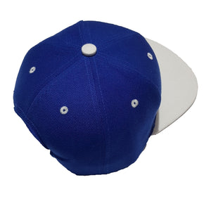 chillen chllen lifestyle wear blue-white snapback hat 1st edition