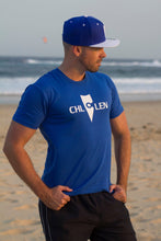 Load image into Gallery viewer, chillen chllen lifestyle wear casual blue-white shirt t-shirt tee blue-white snapback hat