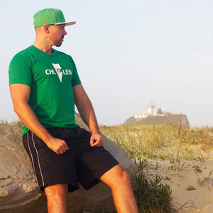 chillen chllen lifestyle wear casual green-white shirt t-shirt tee green-white snapback hat