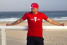 Load image into Gallery viewer, chillen chllen lifestyle wear casual red-white shirt t-shirt tee red-white snapback hat