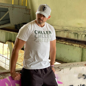 chillen chllen lifestyle wear casual white-grey shirt t-shirt tee a-grey-black a-frame snpaback hat